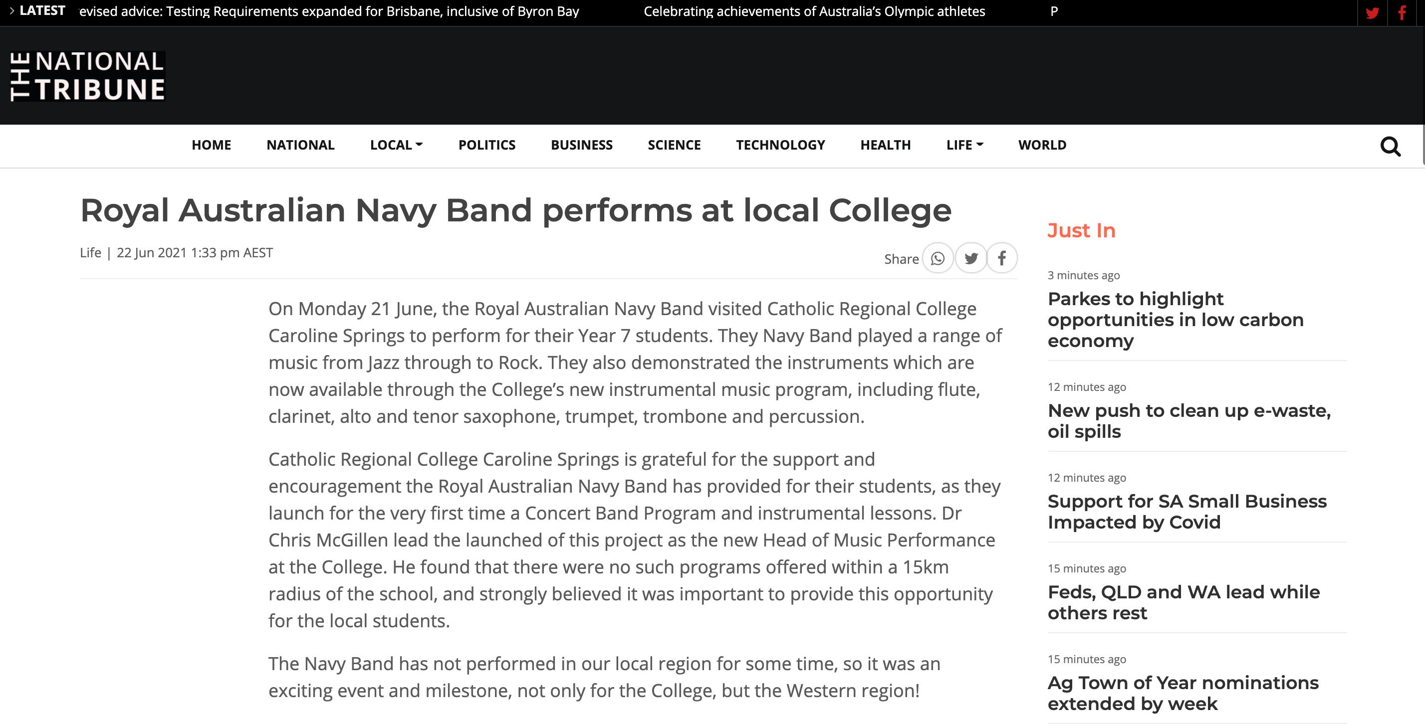 The National Tribune - CRCCS